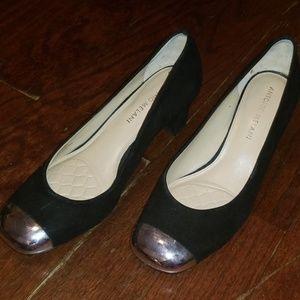 Antonio Melani Silver Toe Heels Sz 6.5